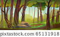Cartoon forest background, nature park landscape 65131918