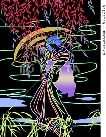 Neon Geisha   65132126