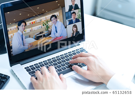 사업가, 온라인 회의 65132658