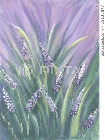 Summer landscape oil painting. 65133847