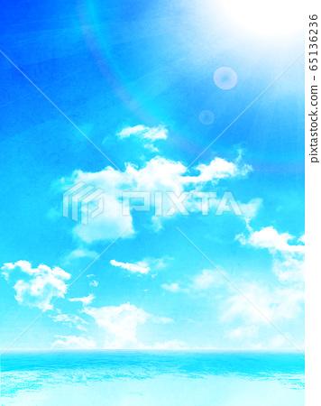 海浪夏天背景 65136236