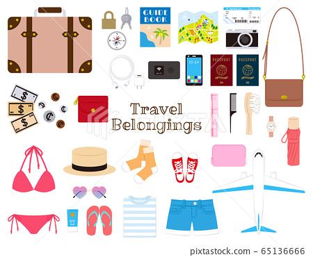 Overseas travel set_woman 65136666