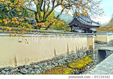 Todai-ji Temple of February and back entrance road 65138382