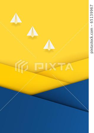 배경 소재 - 종이 비행기 - 종이 공예 - 바이 컬러 - 레이 65139967