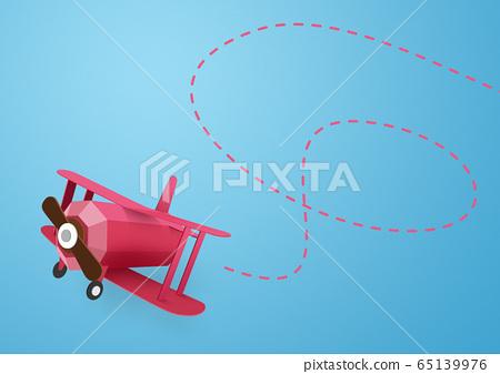 종이 공예 - 하늘 - 구름 - 비행기 65139976