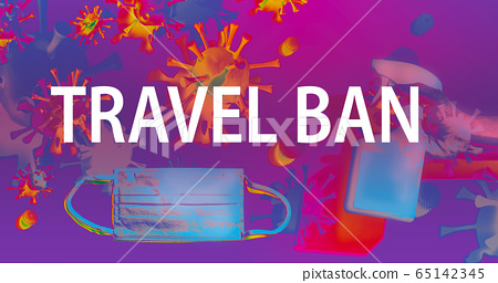 Travel Ban theme with face mask and spray bottle 65142345