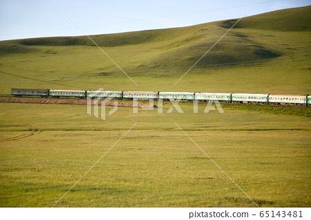 Trans-Siberian Railway from  beijing china  to ulaanbaatar  Mongolia 65143481