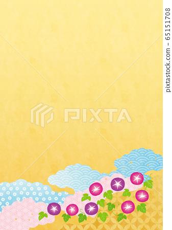 일본식 배경 소재 - 여름 (나팔꽃) 4-2 테크 65151708