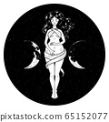 Beautiful pregnant woman figure, symbol of triple 65152077