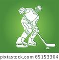 Ice Hockey player action cartoon sport graphic vector. 65153304