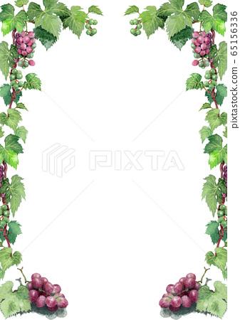 葡萄的裝飾模板畫水彩 65156336