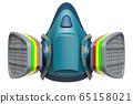 Respirator, Reusable Half Face Cover. 3D rendering 65158021