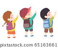 Kids Hands Up Group Empowered Illustration 65163661