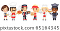 Cartoon Catering Professionals Workers 65164345