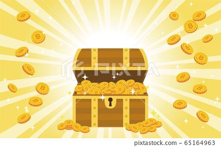 比特幣寶藏背景 65164963