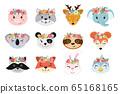 Animal heads illustrations 65168165