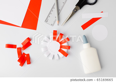 How to make polish paper cotillion at home. Step 7.  National symbol of Poland. 65169665