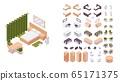 Isometric hotel room furniture set good for 65171375