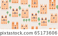 seamless pattern - old eauropean gothic cathedral 65173606