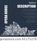 Retro boho floral pattern Sydney Opera House 65175278