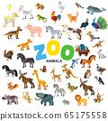 Zoo animals vector set 65175558