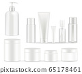 Cosmetic bottles packaging set vector illustrations. 65178461