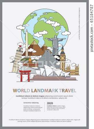 The World Landmark Travel Poster Design Template Vector Illustration  65184787