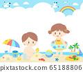 孩子们海上一天框架/背景 65188806