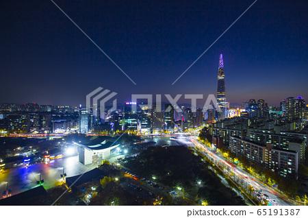 奧林匹克公園,蠶室樂天世界大廈,夜景 65191387