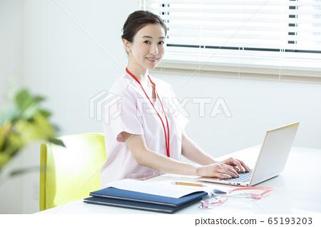 婦女,業務,工作,護士,醫生,醫生,病歷 65193203