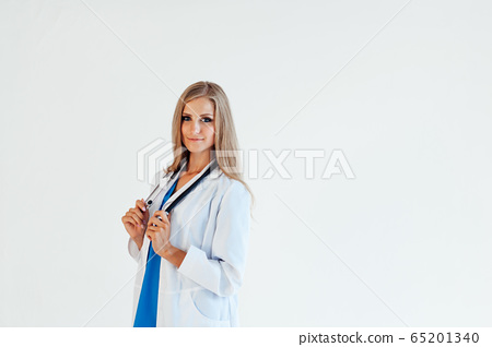 female doctor with stethoscope in hospital nurse 65201340
