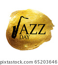 Jazz Day Background. Vector Illustration 65203646