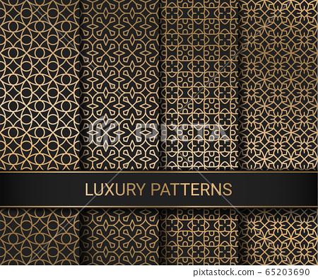 Set of luxury seamless patterns artwork, vector illustration 65203690