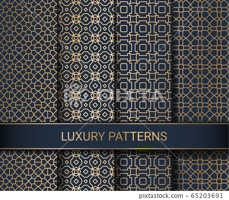 Set of luxury seamless patterns artwork, vector illustration 65203691