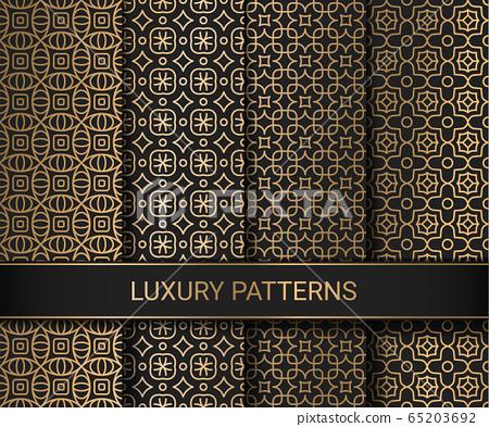 Set of luxury seamless patterns artwork, vector illustration 65203692