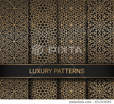 Set of luxury seamless patterns artwork, vector illustration 65203694