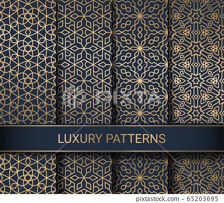 Set of luxury seamless patterns artwork, vector illustration 65203695
