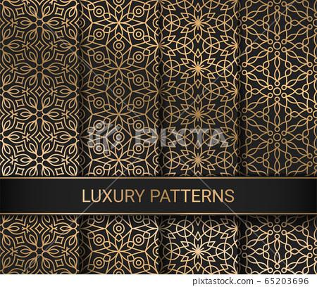 Set of luxury seamless patterns artwork, vector illustration 65203696