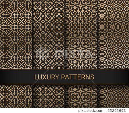 Set of luxury seamless patterns artwork, vector illustration 65203698