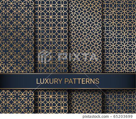 Set of luxury seamless patterns artwork, vector illustration 65203699
