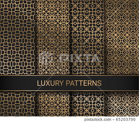 Set of luxury seamless patterns artwork, vector illustration 65203700