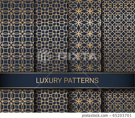 Set of luxury seamless patterns artwork, vector illustration 65203701