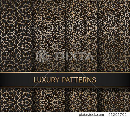 Set of luxury seamless patterns artwork, vector illustration 65203702