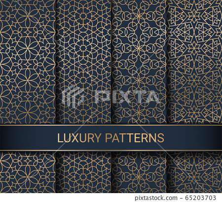 Set of luxury seamless patterns artwork, vector illustration 65203703