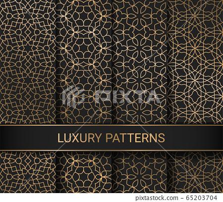 Set of luxury seamless patterns artwork, vector illustration 65203704