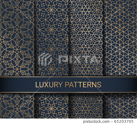 Set of luxury seamless patterns artwork, vector illustration 65203705