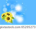 向日葵和淺色背景 65205273