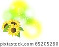 向日葵和淺色背景 65205290