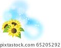 向日葵和淺色背景 65205292