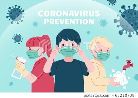 COVID-19 precaution design 65210739